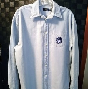 Ralph Lauren Boyfriend Crested Button Down Shirt M